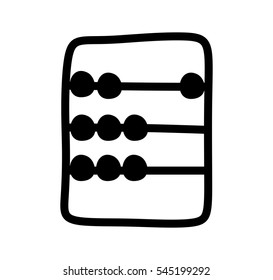 fba41867 Flat line retro abacus vector icon isolated on a white background.  Accountant busienss logo.