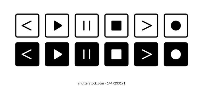 Imágenes, fotos de stock y vectores sobre Play Pause Stop