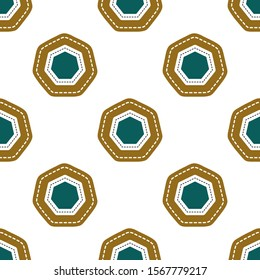 Flat linear design. Seamless texture of heptagons. Can be used for wallpaper, pattern fills, web page, surface textures, textile print, wrapping paper - Vector