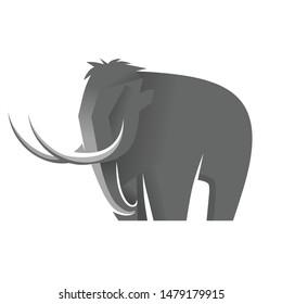 flat mammoth design character vector