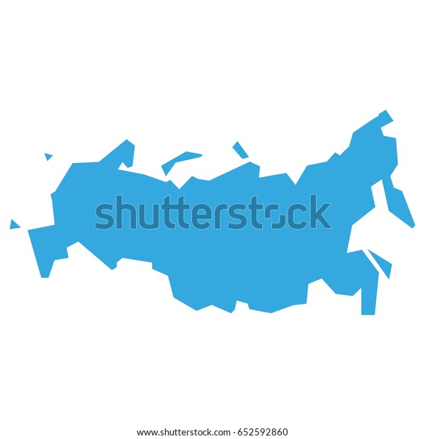Flat Map Russia Vector Stock Vector (Royalty Free) 652592860 Flat Russia Map on flat united states map, flat eurasia map, flat great britain map, flat country map, flat europe map, flat us map, flat africa map, flat world maps,