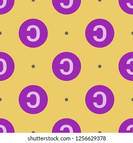 Flat material design endless repeating copyleft background pattern. Modern season decoration, wrapping paper, clothes textile print.