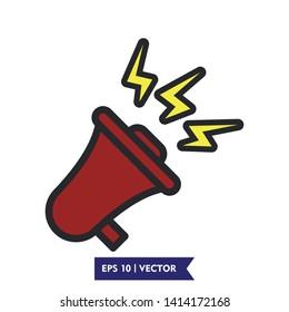 flat megaphone illustration icon vector symbol, eps 10
