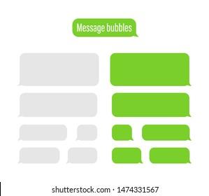 Flat Messages Bubbles. Chat interface. Message bubbles