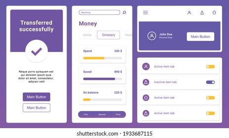 Flat Mobile Web UI Kit. Universal user interface for designing responsive websites, mobile apps.