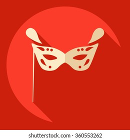 Flat modern design with shadow  Icon Christmas mask