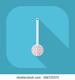 Flat modern design with shadow icons Ladle