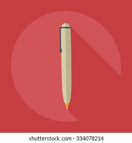 Flat modern design with shadow icons pen