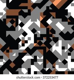 flat modern geometry - vector seamless pattern