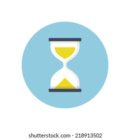 Flat modern vector icon: sand clock.
