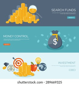Flat money making background. Business. Wealth and finance. Coins.