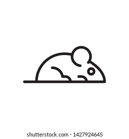 flat mouse, mice, rat, icon symbol sign, logo template, vector, eps 10