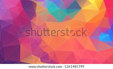 Flat Multicolor Triangle Geometric Wallpaper Stock Vector Royalty