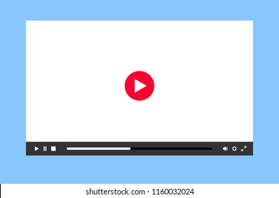 Flat multimedia player for mobile apps, sites and video services