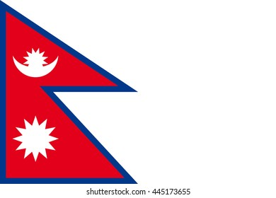 Flat Nepal flag vector background