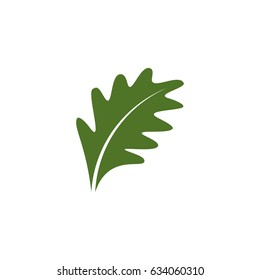 Flat oak leaf