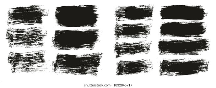 Flat Paint Brush Thick Short Mix Background High Detail Abstract Vector Background Mix Set