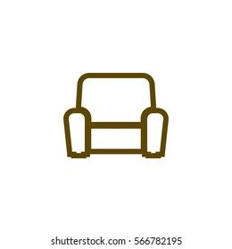 Flat paper cut style icon of furniture. Vector illustration