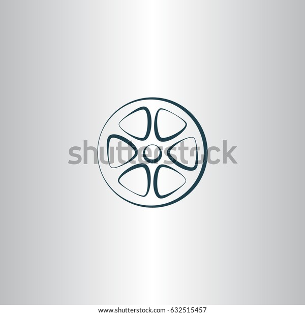 Flat paper cut style icon of old tape spool. Vector illustration
