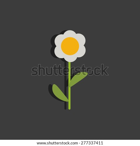 Flat Paper Flower Stock Vector Royalty Free 277337411 Shutterstock