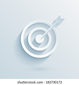 flat paper target with dart vector eps10 illustration for business template