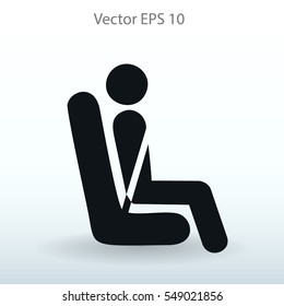 Flat passenger icon. Vector