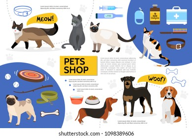 Flat Pet Shop Infographic Template