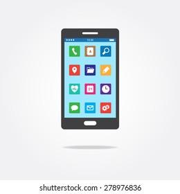 Flat Phone App Icons