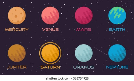 Flat Planet Infographic