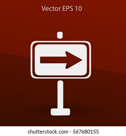 Flat pointer icon