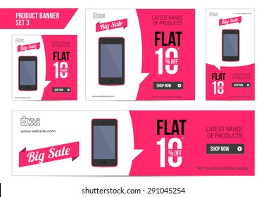 Flat Product Sale Mobile banner 10 off