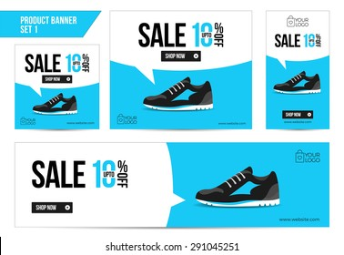 Flat Product Sale Shoe banner 10 off