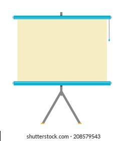 Flat Projector Screen Vector Illustration