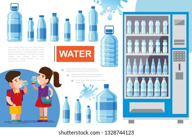 Flat Pure Water Concept