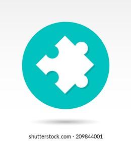 Flat Puzzle Icon
