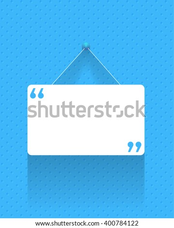 Flat Quotes Banner Design Stock Vector Royalty Free 400784122