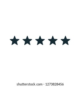 flat rating star icon design vector