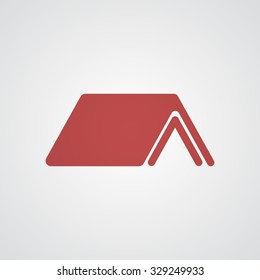 Flat red Shelter icon