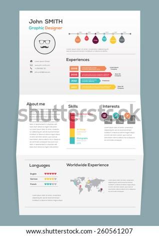 flat resume on brochure infographics timeline stock vector royalty