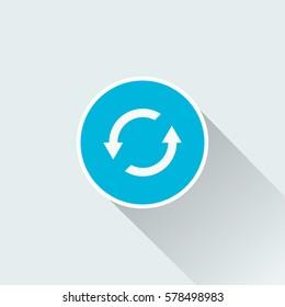 flat reverse direction icon