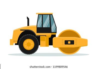 Flat roll vector design. Heavy machinery.