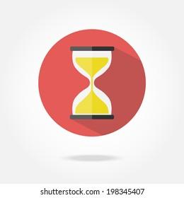 Flat sand clock icon.