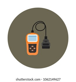 flat scanner icon for auto diagnostics in vector format