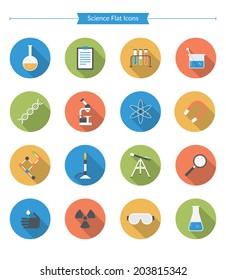 Flat Science Icons