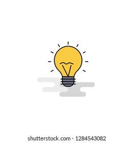 Flat Seo bulb  Icon. Vector