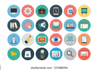 Flat Seo and Marketing Icons - Vol 1