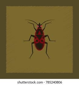 flat shading style illustration soldier bug