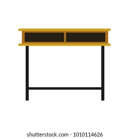Flat Simple Wooden Front Look Table