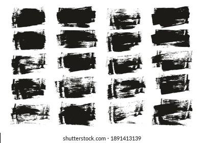 Flat Sponge Thin Artist Brush Short Background High Detail Abstract Vector Background Set