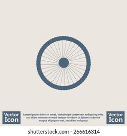 Flat style bicycle wheel  icon